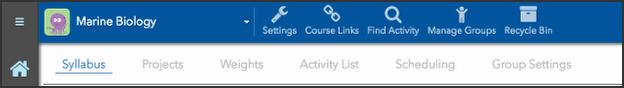 Editor tool tabs