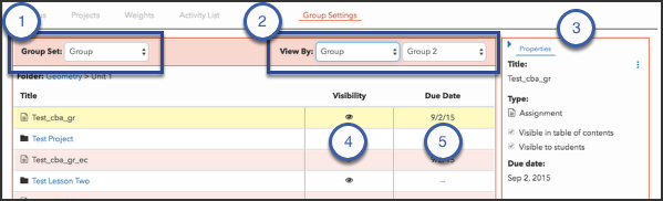 Review group-specific settings