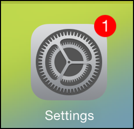 "2. To set or change the default email address for the iPad, tap on the ""Settings"" icon."