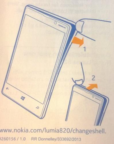 Nokia har vedlagt en illustration af hvad du skal gøre