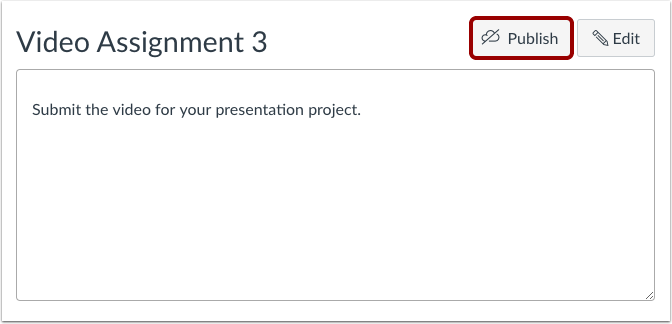 Publish Assignment from Individual Assignment