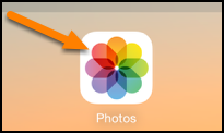 Tap on the Photos icon to access the photo you just took and want to send.