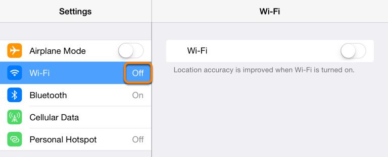 Tap on Wi-Fi.