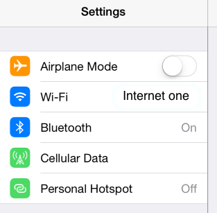 To see if have you connected, the name of the network will appear on the Wi-Fi setting option.