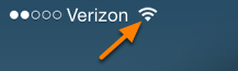 Another way to ensure you are connected to the Internet, look at the top left hand corner and next to your Internet provider a signal icon will appear.