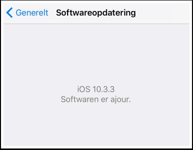 Så skulle det være muligt at se hvilken version man har af IOS: