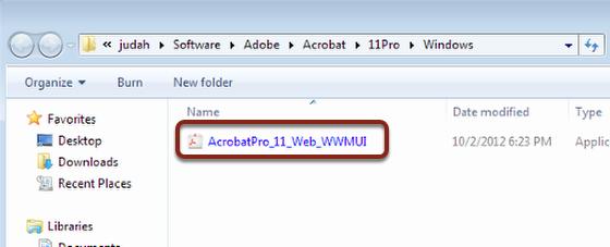 Open AcrobatPro_11_Web_WWMUI file