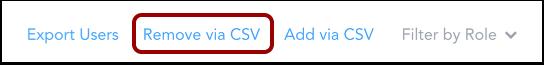Supprimer à l'aide d'un fichier CSV
