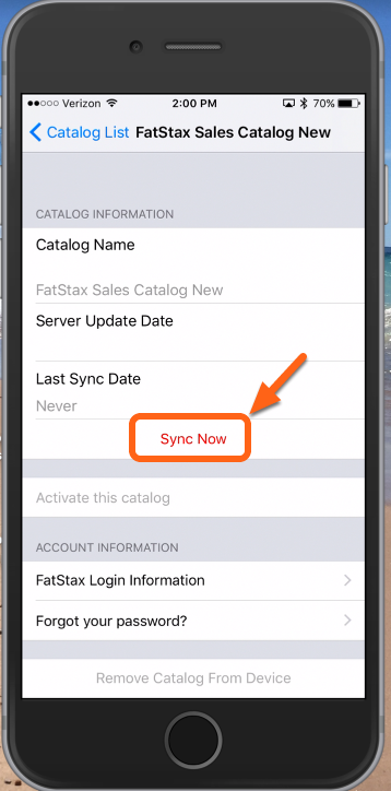 "Tap ""Sync Now"""