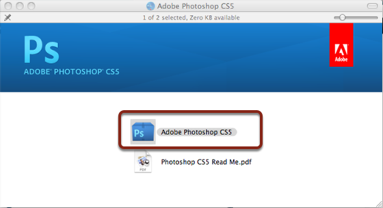Adobe photoshop cs5 mac install oklahoma christian university double click on adobe photoshop cs5 ccuart Image collections