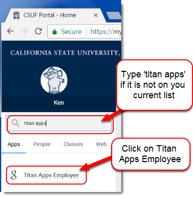 Click on Titan Apps Employee.