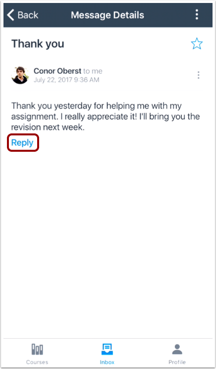 Reply to Message