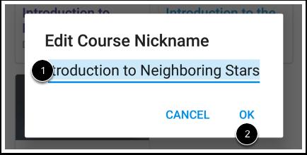 Edit Nickname
