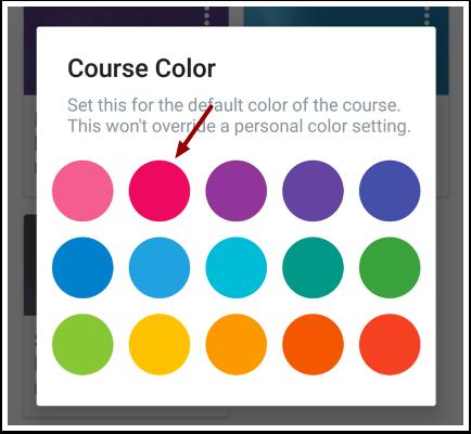 Edit Course Color