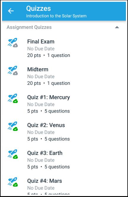View Quizzes