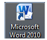 Using MS Word, open the document template that you want to link with the form