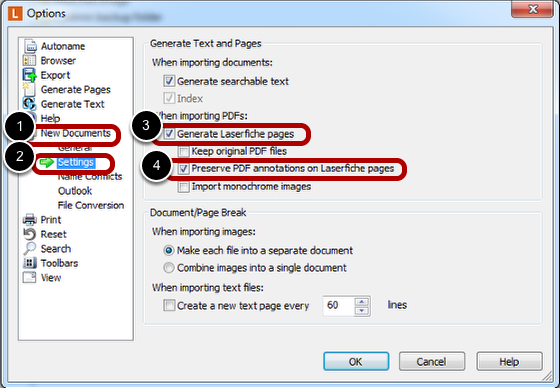 Set PDF Settings