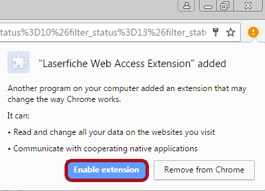 Launch Chrome and Enable Extension