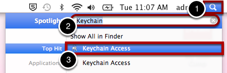 "Open ""Keychain Access"""