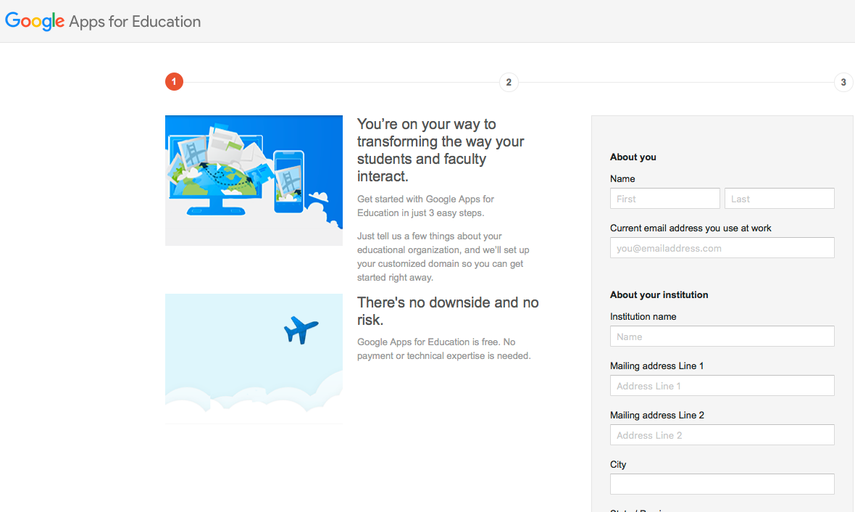 Sign Up for Google Apps for Education Using the Purchased Domain
