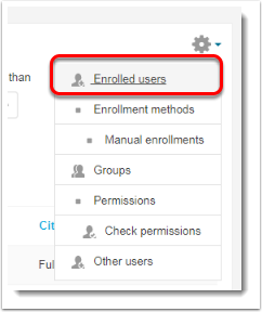 Enrolled users link is selected.