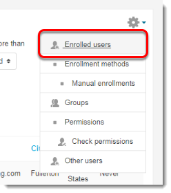 Enrolled users is selected.