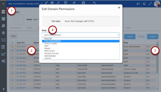 Editing a Domain roles