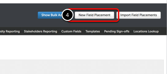 Step 2: Create a New Field Placement