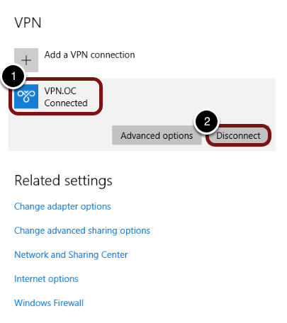 VPN - Connect/Disconnect on Windows 10 – Oklahoma Christian