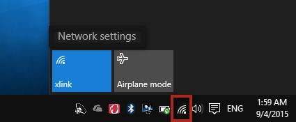 Click on the Network Icon in the bottom-right corner of your screen