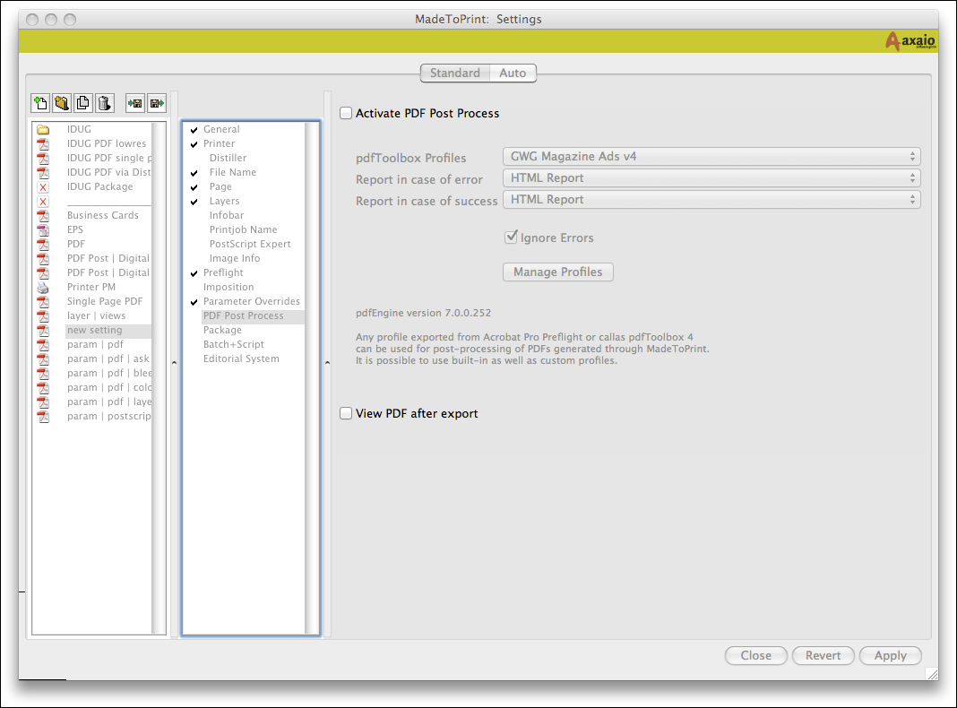 Application – Setup and Run MadeToPrint   MadeToPrint Manual