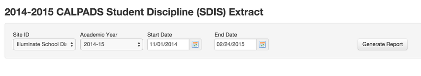 SDIS Requirements