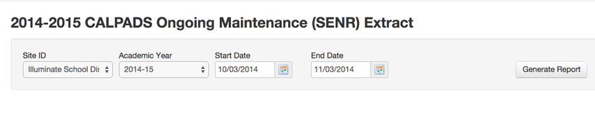 SENR Requirements