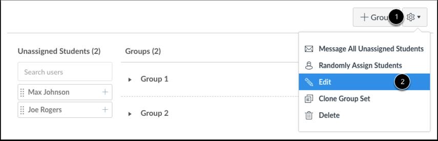 Edit Group Set