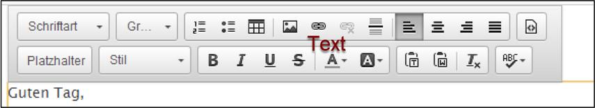 Text bearbeiten