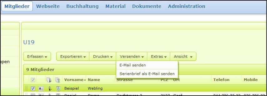 E-Mail mit Webling schreiben