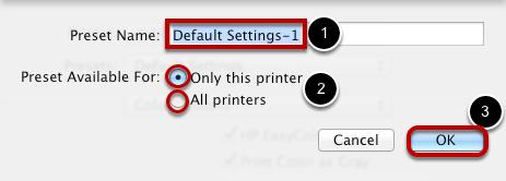 Name the Printer Setting