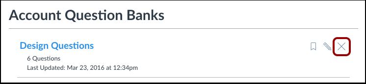 Delete Question Bank