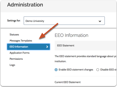 "Scroll down to ""Application Forms & EEO"" at the bottom of the page"