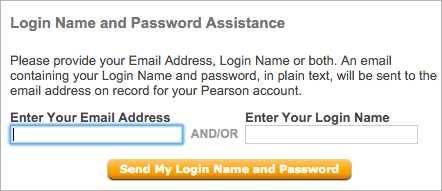 """If you forgot your username or password, click """"Forgot your Login Name or Password?"""""""