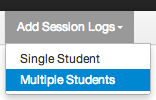Add a Session Log for Multiple Students