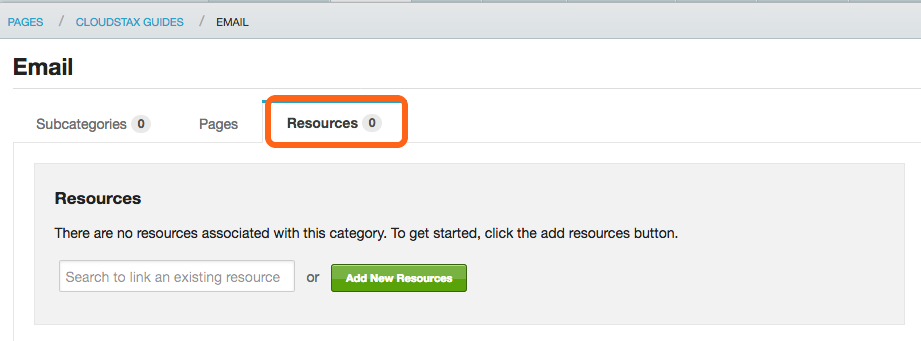 6. Linking Resources to Categories or Sub-Categories is the same process as for Pages