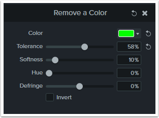 Set the color removal settings