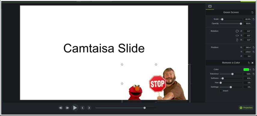 Adjust the video