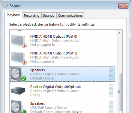 Go To Your Windows Control Panel And Navigate Sound Settings Under The Playback Tab Look For Speakers