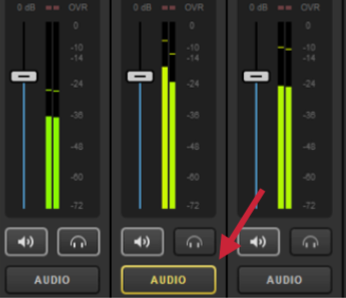 This Indicates That The Audio Source Is Heard In Program Because Its Corresponding Video Input It Not When