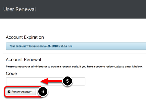 Step 3: Renew Account