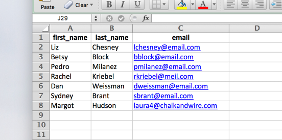 Step 1: Create Contact Spreadsheet