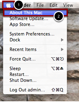 """Open """"About This Mac"""""""