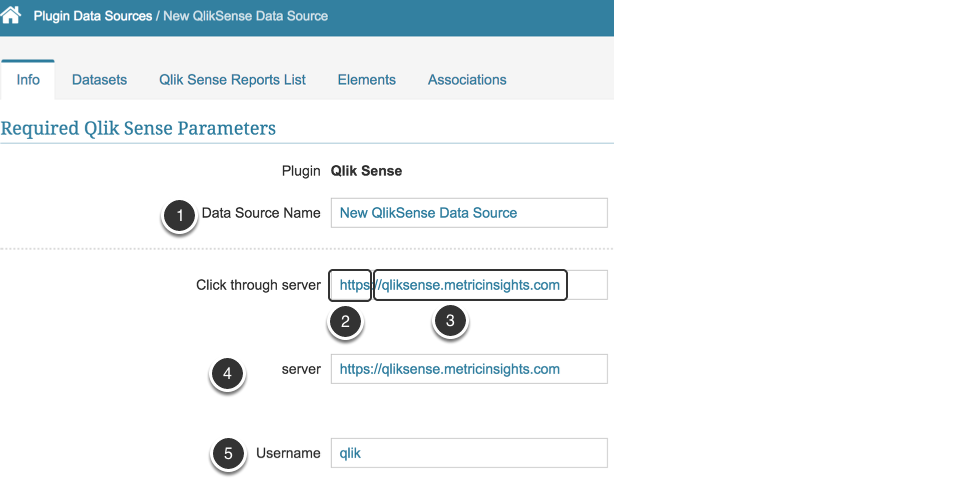 Provide Required Qlik Sense Parameters